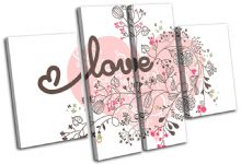 Heart Abstract Floral Love - 13-1880(00B)-MP17-LO
